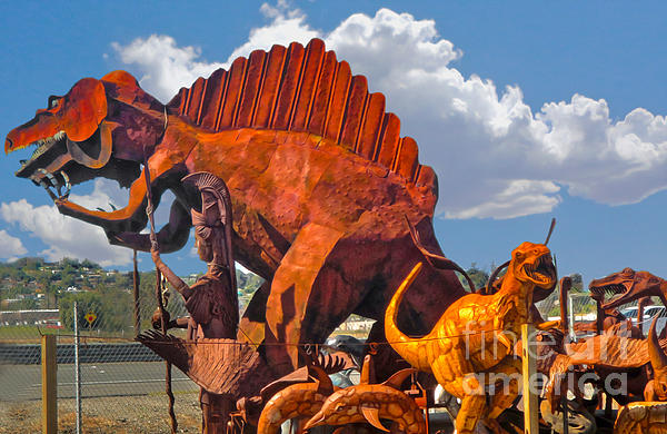 Metal Dinosaurs - 01 Print by Gregory Dyer