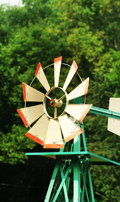 Metal Windmill Print by Christopher Hoffman