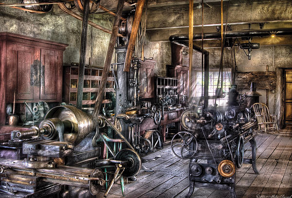 Metal Worker - Belts And Pullies Print by Mike Savad