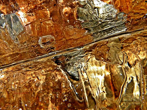 Metallic Ice Print by Chris Berry