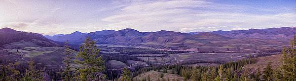 Methow River Valley Via Sun Mtn Lodge Print by Omaste Witkowski