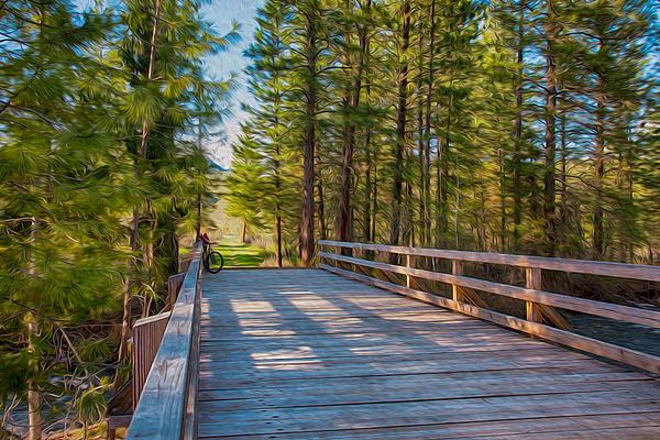 Methow Valley Community Trail At Wolf Creek Bridge Print by Omaste Witkowski