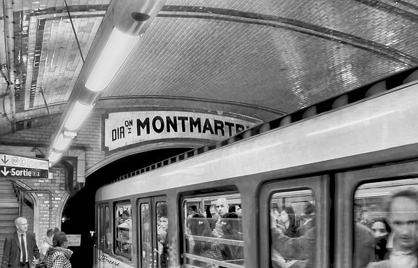 Jennie Breeze - Metro at Montmartre. Paris