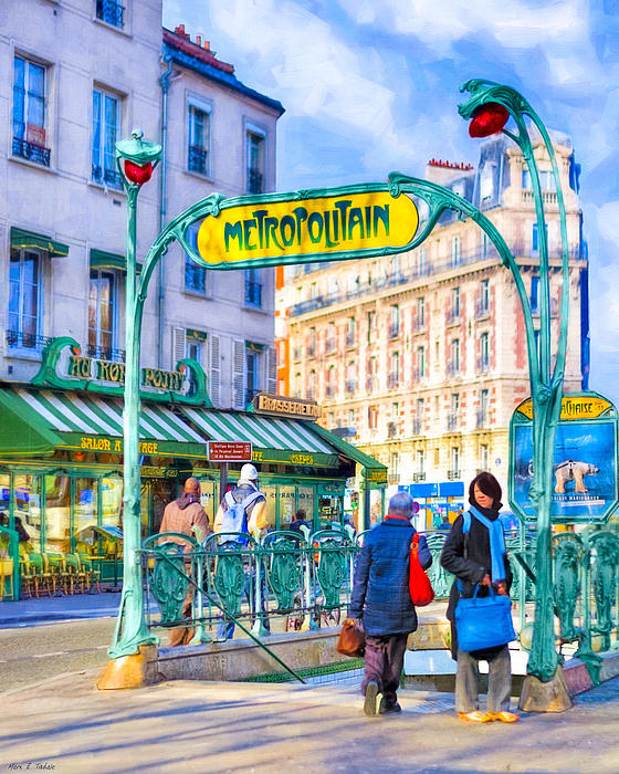 Metropolitain - Parisian Subway Street Scene Print by Mark Tisdale