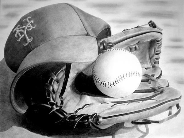Mets Print by Jennifer Wartsky