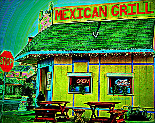 Mexican Grill Print by Chris Berry