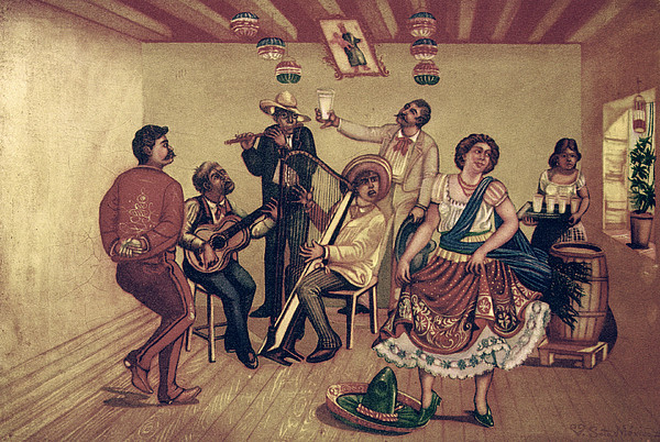 Mexico: Hat Dance Print by Granger