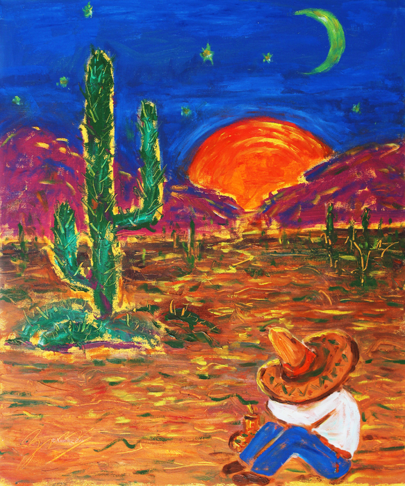 Mexico Impression IIi Print by Xueling Zou