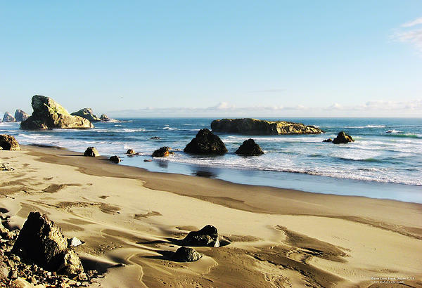 Meyers Creek Beach Oregon Print by Rafael Escalios