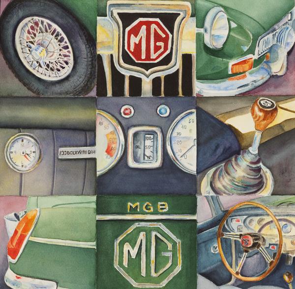 Karen Fleschler - MG Car Collage