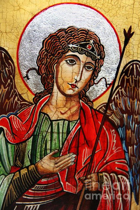 Michael Archangel Print by Ryszard Sleczka