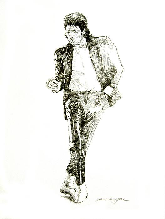 Michael Jackson Billy Jean Print by David Lloyd Glover