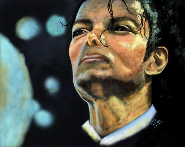 Michael Jackson Print by Maria Schaefers
