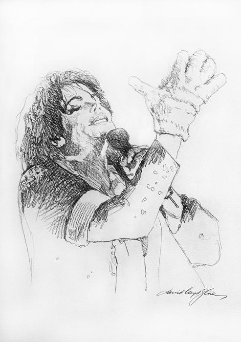 Michael Jackson Passion Sketch Print by David Lloyd Glover
