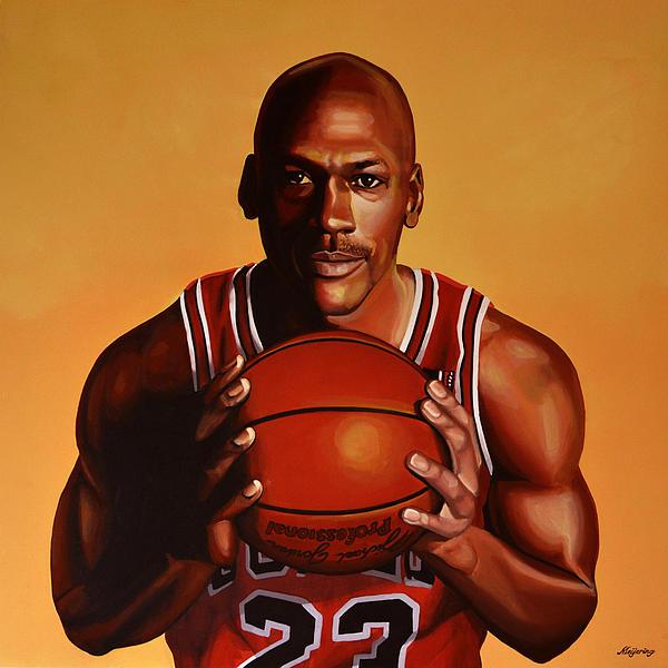 Michael Jordan 2 Print by Paul Meijering