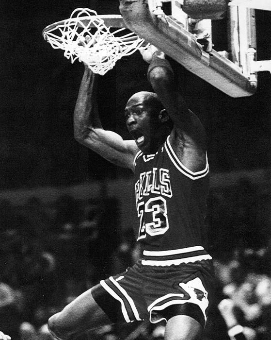Michael Jordan Dunks Print by Retro Images Archive