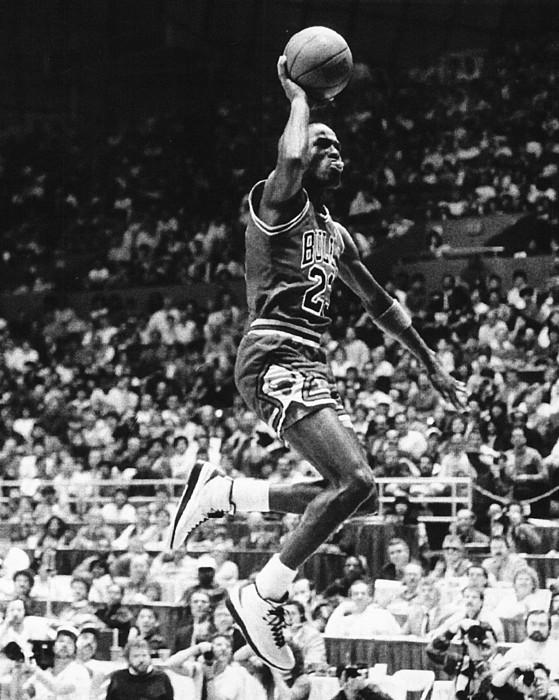 Michael Jordan Gliding Print by Retro Images Archive