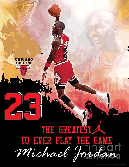 Michael Jordan Greatest Ever Print by Israel Torres