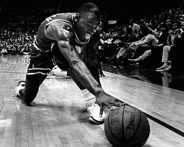 Michael Jordan Reaches For The Ball Print by Retro Images Archive