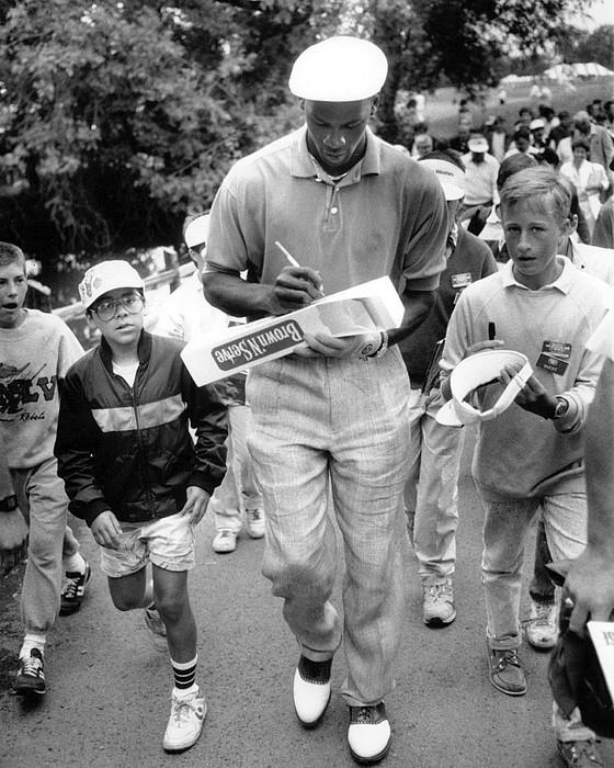 Michael Jordan Signing Autographs Print by Retro Images Archive