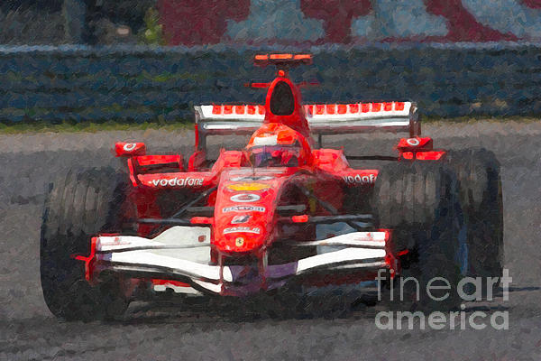 Michael Schumacher Canadian Grand Prix I Print by Clarence Holmes