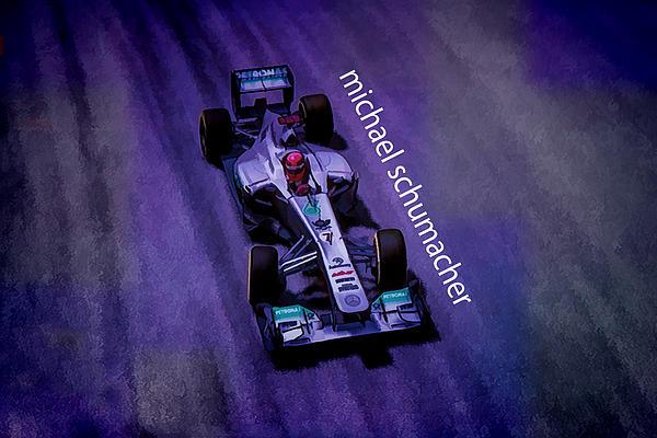 Michael Schumacher Print by Marvin Spates