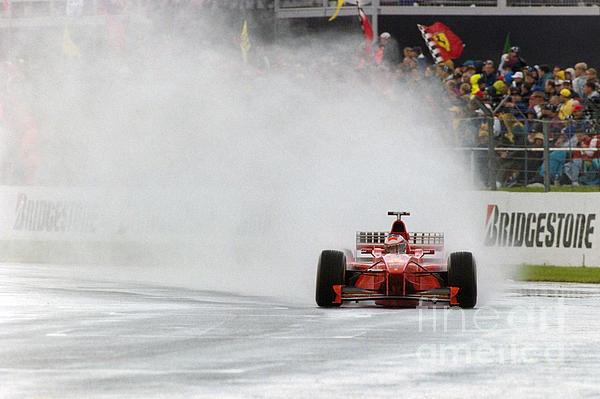 Michael Schumacher Rainmaster Print by Gary Doak