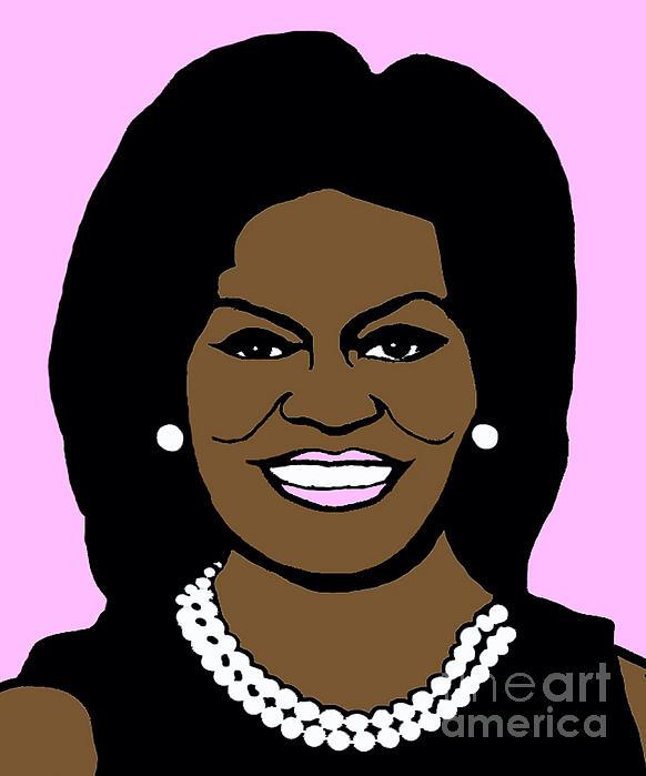 Michelle Obama Print by Jost Houk
