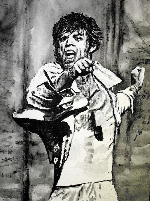 Mick In Motion II Print by Todd Spaur