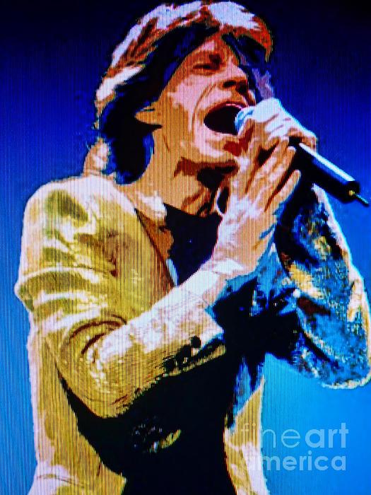 Mick Jagger Pop Art Print by Ryszard Sleczka