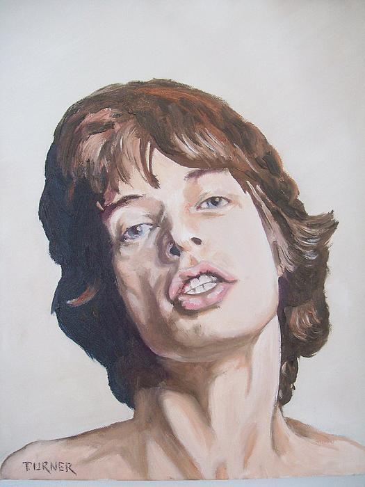 Mick Jagger Print by Tim Turner