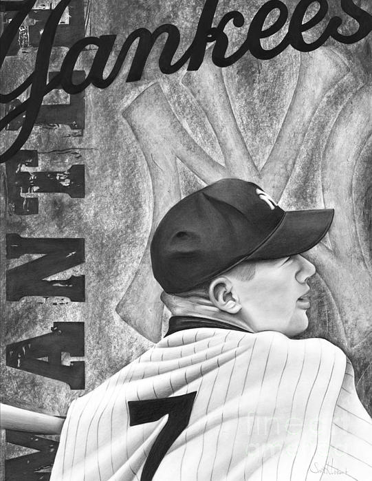 Mickey Mantle Print by Scott  Hubbert