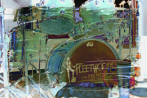 Mick's Drums Print by Paulette B Wright