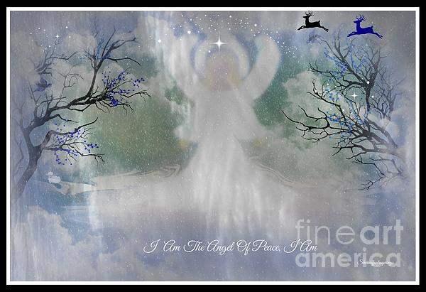 Midnight Angel Of Peace Print by Sherri  Of Palm Springs