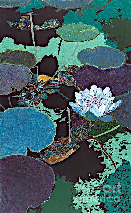 Midnight Moonglow Print by Allan P Friedlander
