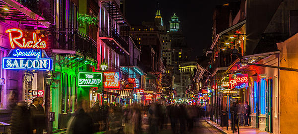 Midnight On Bourbon Street Print by John McGraw