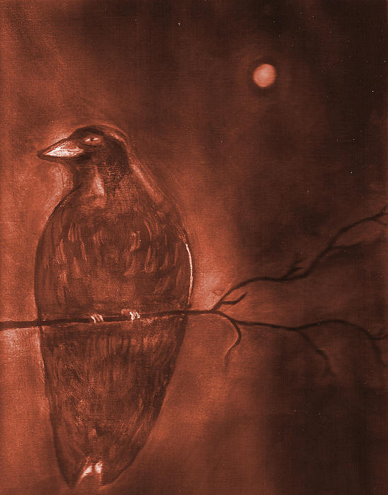 Midnight Solitude Print by Noreen  Withrow Roux