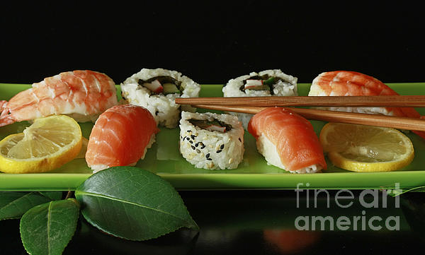 Midnight Sushi Indulgence Print by Inspired Nature Photography By Shelley Myke