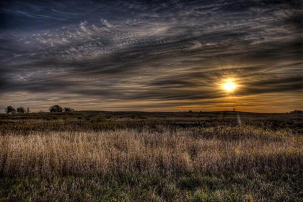 Midwest Sunrise Print by Jeff Burton