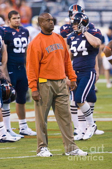 Mike London University Of Virginia Football Print by Jason O Watson