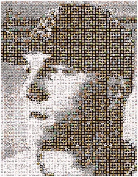 Mike Trout Mosaic Print by Paul Van Scott
