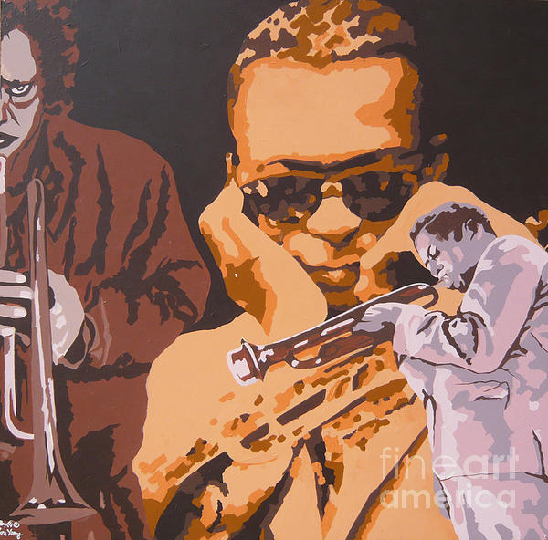 Miles Davis I Print by Ronald Young