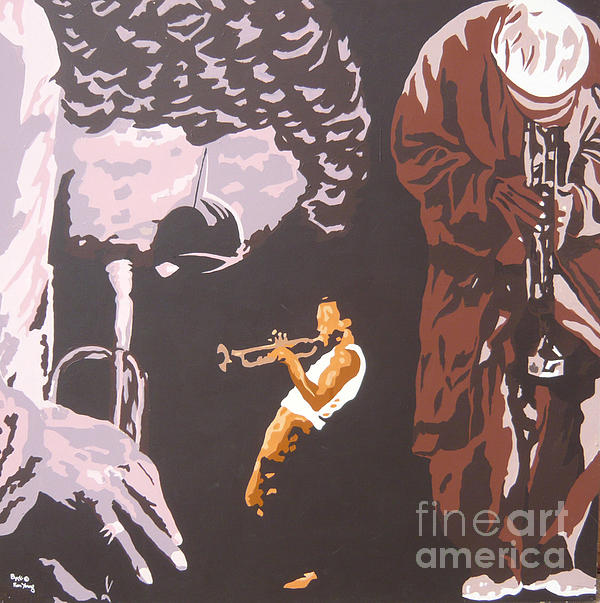 Miles Davis II Print by Ronald Young