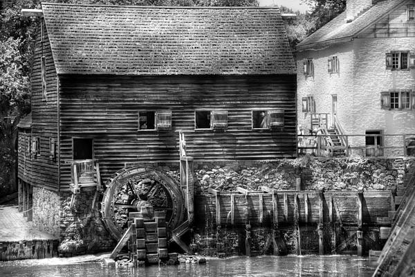 Mill - Sleepy Hollow Ny - By The Mill Print by Mike Savad
