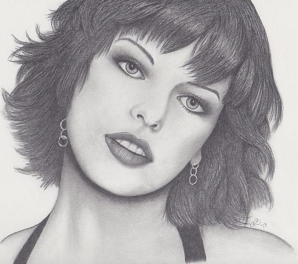 Milla Jovovich Print by Nancy Esposito
