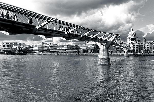 Millennium Foot Bridge - London Print by Mark Tisdale