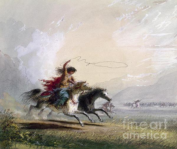 Miller - Shoshone Woman Print by Granger