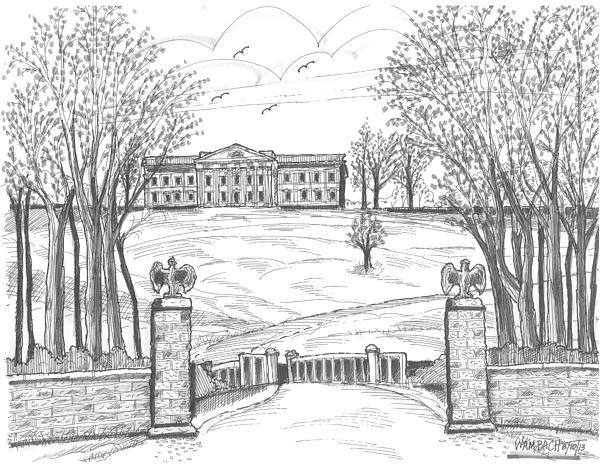 Mills Mansion Staatsburg Print by Richard Wambach