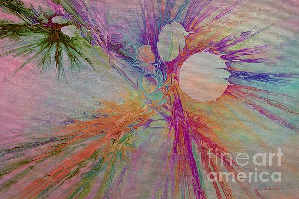 Mind Energy Aura Print by Deborah Benoit