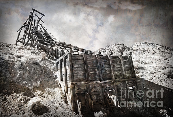 Mine Structure In Silver City Print by Dianne Phelps